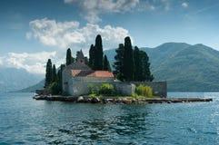 En ö kallade Sv Djordje royaltyfri foto