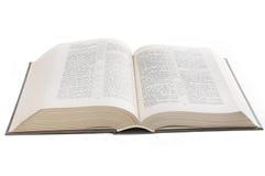 En öppen bok Arkivfoto