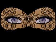 En öppen kvinnlig ögonkast, ögon med flera skuggor av grå färg-gräsplan te, safir, kobolt royaltyfri illustrationer