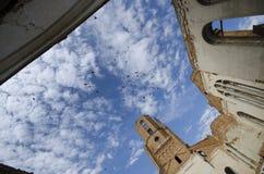 En övergiven kyrka. Arkivbild