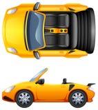 En överkant- och sidosikt av en sportbil Royaltyfria Foton