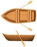 En överkant- och sidosikt av ett fartyg stock illustrationer
