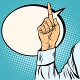 En övre gest för pekfinger stock illustrationer