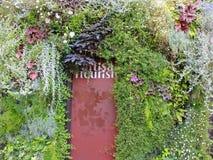 EN-λουλούδι πόρτα στο κατάστημα ανθοκόμων, Παρίσι Στοκ Φωτογραφίες