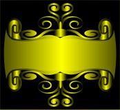 EN χρυσή γραμμή ανασκόπησης Στοκ Εικόνες