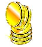 EN χρυσό να λάμψει νομισμάτων Στοκ εικόνες με δικαίωμα ελεύθερης χρήσης