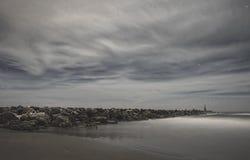 En Марбелья Nocturna de Ла playa de Cabopino Стоковое Изображение RF