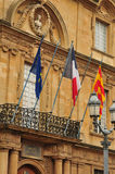 En Провансаль AIX, Франция - 21-ое апреля 2016: ратуша Стоковое Фото