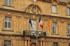 En Провансаль AIX, Франция - 21-ое апреля 2016: ратуша Стоковое Изображение RF