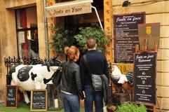 En Провансаль AIX, Франция - 21-ое апреля 2016: ресторан Стоковые Изображения RF