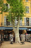 En Провансаль AIX, Франция - 21-ое апреля 2016: cours Mirabeau Стоковое Изображение