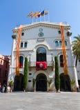 En 11-S del bandera de Badalona Imagen de archivo libre de regalías