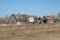En Abandonded Minnesota lantgårdplats Arkivfoton