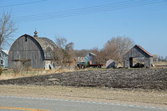 En Abandonded Minnesota lantgårdplats Royaltyfri Fotografi