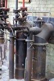 La fábrica del abandono en la producción de cemento Foto de archivo libre de regalías