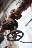 La fábrica del abandono en la producción de cemento Fotografía de archivo
