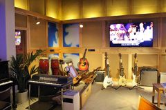 En ABBA el museo en Estocolmo Imagen de archivo libre de regalías