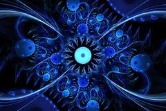 En abstrakt dator frambragd fractaldesign stock illustrationer