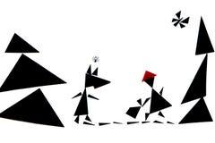 En abstrakt illustration av den röda berättelsen för ridninghuv royaltyfria foton