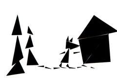 En abstrakt illustration av den röda berättelsen för ridninghuv arkivfoto
