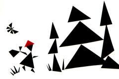 En abstrakt illustration av den röda berättelsen för ridninghuv royaltyfria bilder