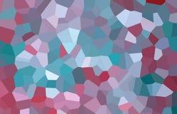 En abstrakt mosaikmodell som planläggs i röd, vit, havsgräsplan och lilafärger Arkivfoton