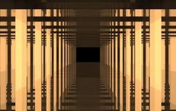 En abstrakt orange teckning av ljus och stål Fotografering för Bildbyråer