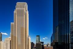 En abstrakt sikt av stadsarkitekturen av Minneapolis, USA Royaltyfri Bild