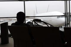 En aeropuerto Foto de archivo libre de regalías