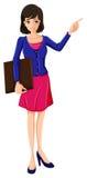 En affärskvinna med en blå blazer Royaltyfri Fotografi