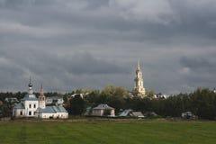 En afton är i Suzdal Royaltyfri Foto