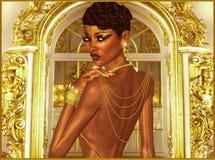 En afton av lyx. royaltyfri illustrationer