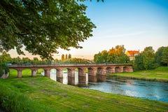 En afton i Tyskland Rastatt fotografering för bildbyråer