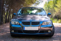 En agosto de 2017: Grafito chispeante de la serie E90 330i de BMW 3 Fotos de archivo