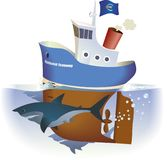 En aguas profundas stock de ilustración