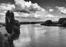 En al río alemán Imagen de archivo libre de regalías