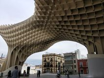 En alguna parte en medio de la nada en Sevilla, Espa?a fotos de archivo