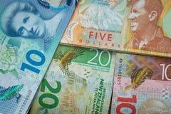 En alguna parte en Nueva Zelandia Dinero/dólar/diversa denominación foto de archivo libre de regalías