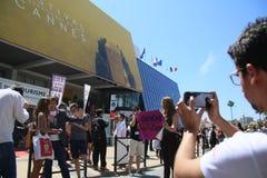 En allmän sikt av atmosfär på den årliga Cannes filmfestivalen fotografering för bildbyråer