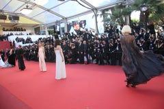 En allmän sikt av festivaler för atmosfärPalais des royaltyfria foton