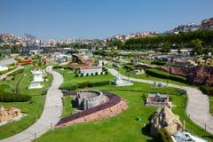 En allmän sikt av Miniaturk parkerar, Istanbul Arkivbild