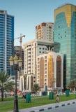 En allmän sikt av Sharjah UAE Royaltyfri Fotografi