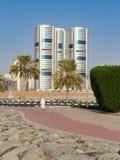 En allmän sikt av Sharjah UAE Arkivfoton