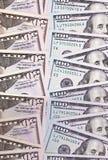 100 en 50 Amerikaanse dollar abstracte achtergrond Stock Foto