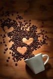 En amor con café Imágenes de archivo libres de regalías