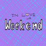 En amor con el ejemplo de la palabra del fin de semana Fotografía de archivo