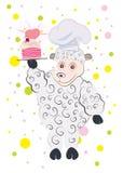En amor con la torta del cordero Imágenes de archivo libres de regalías