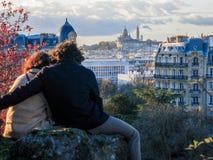 En amor en París imágenes de archivo libres de regalías