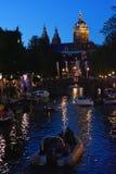 En Amsterdam di Atardecer Fotografie Stock