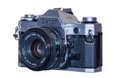 En analog filmkamera för tappning, Canon AE-1 Royaltyfri Foto